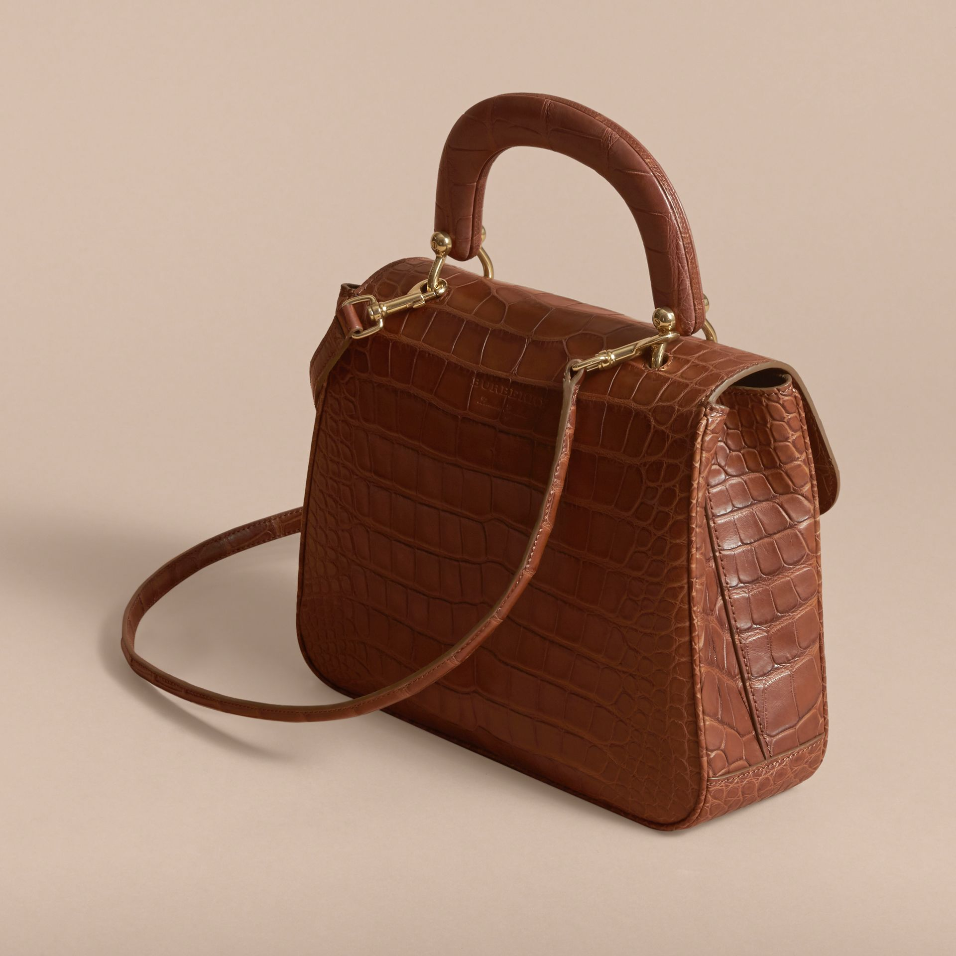 The Medium DK88 Top Handle Bag in Alligator in Tan - Women | Burberry - gallery image 2