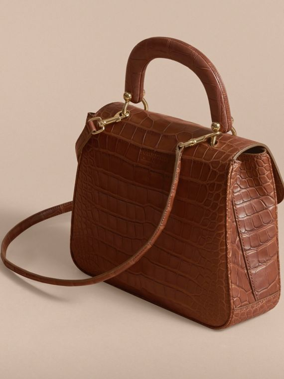 The Medium DK88 Top Handle Bag in Alligator in Tan - Women | Burberry United Kingdom - cell image 2