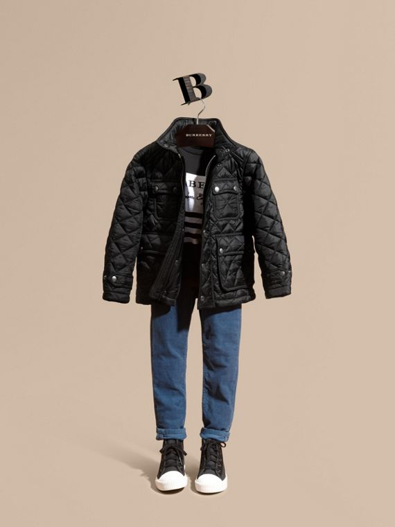 Diamond Quilted Field Jacket