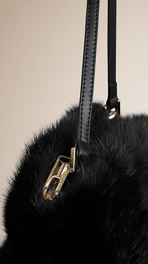 Black Mink Clutch Bag - Image 6
