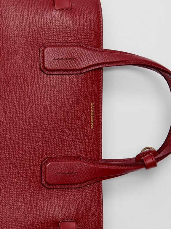 The Medium Banner in Leather with Grommeted Strap in Crimson - Women | Burberry Australia - cell image 1
