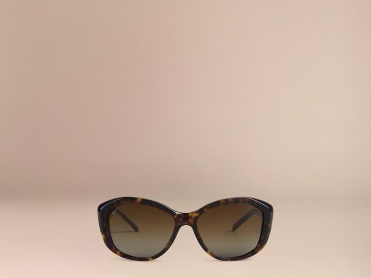 Tortoise shell Gabardine Lace Collection Square Frame Sunglasses Tortoise Shell - cell image 1