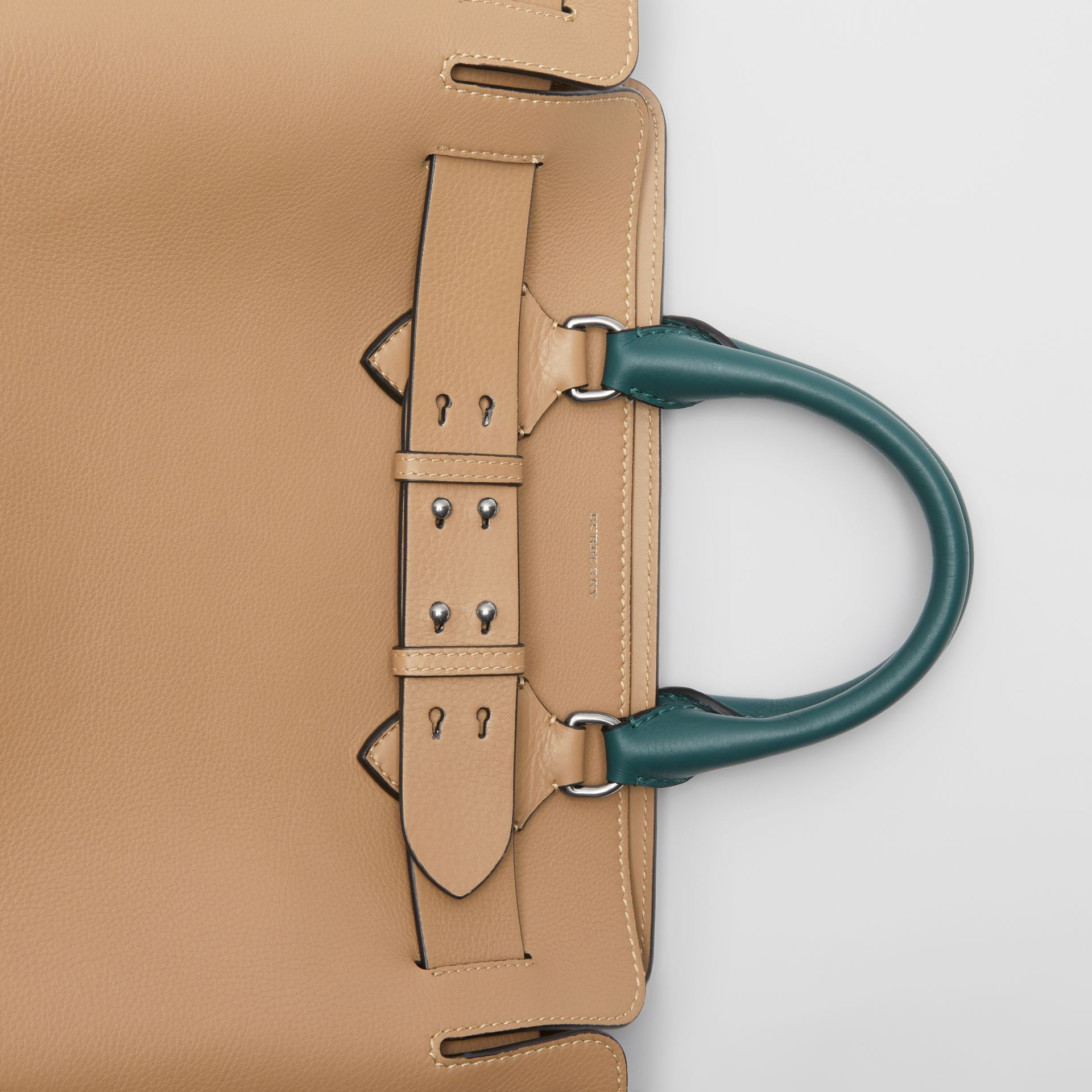 The Medium Tri-tone Leather Belt Bag in Light Camel - Women | Burberry Australia - gallery image 1