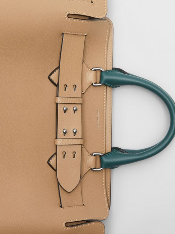 The Medium Tri-tone Leather Belt Bag in Light Camel - Women | Burberry United Kingdom - cell image 1