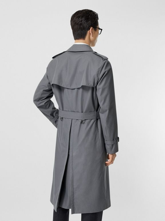 The Long Chelsea Heritage Trench Coat in Mid Grey - Men | Burberry - cell image 1