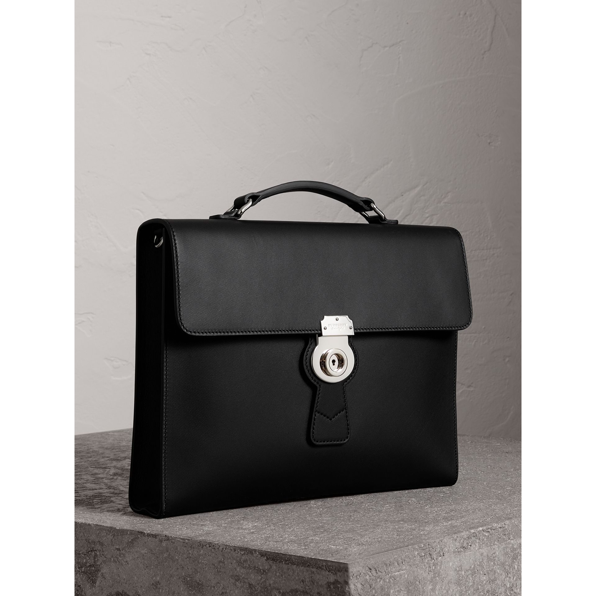 The Large DK88 Document Case in Black - Men | Burberry - gallery image 4