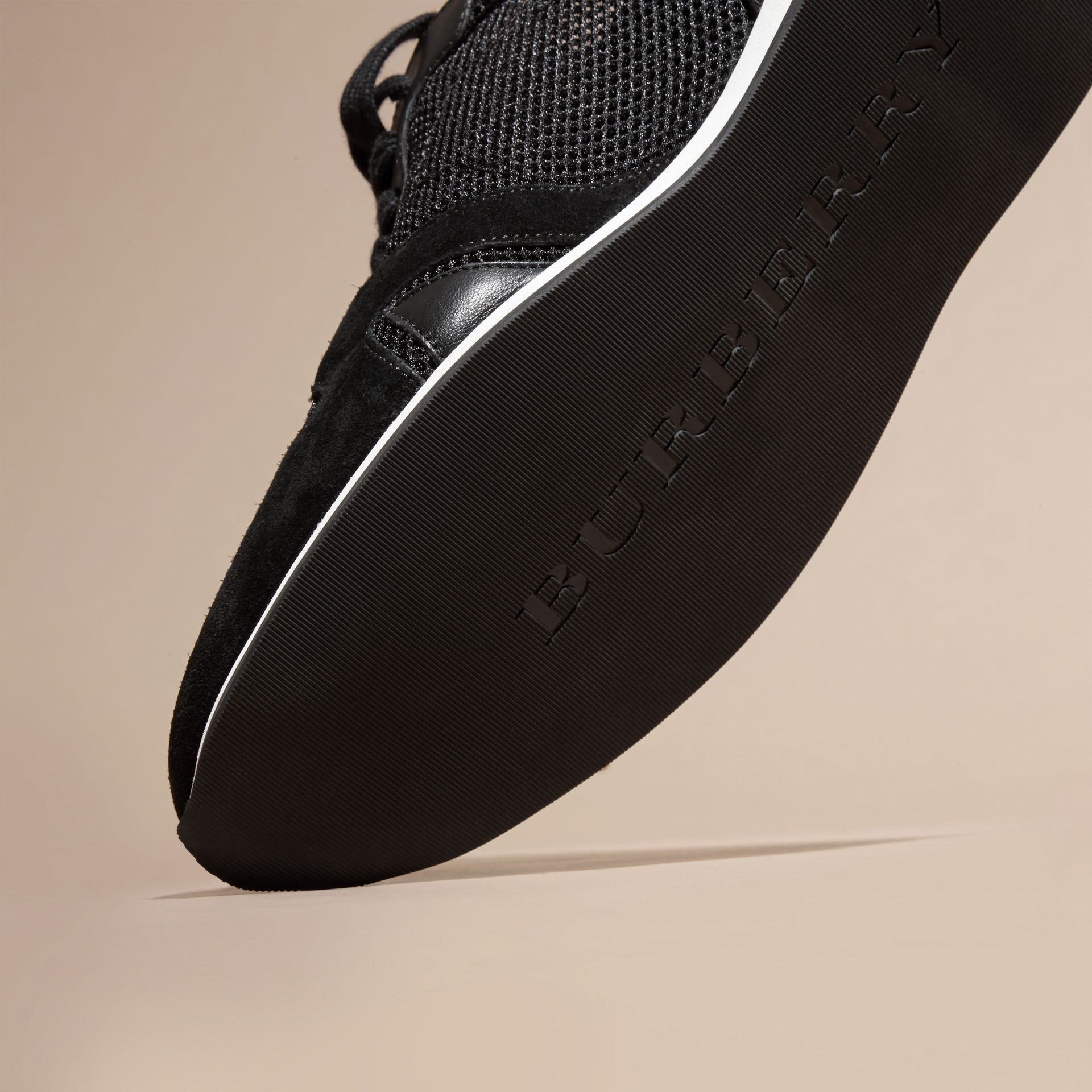 Black The Field Sneaker in Suede and Mesh Black - gallery image 5
