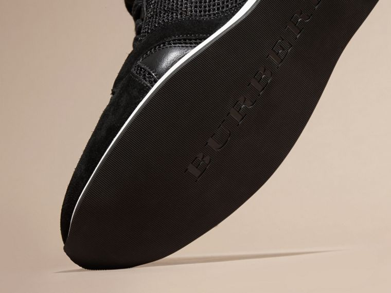 Black The Field Sneaker in Suede and Mesh Black - cell image 4