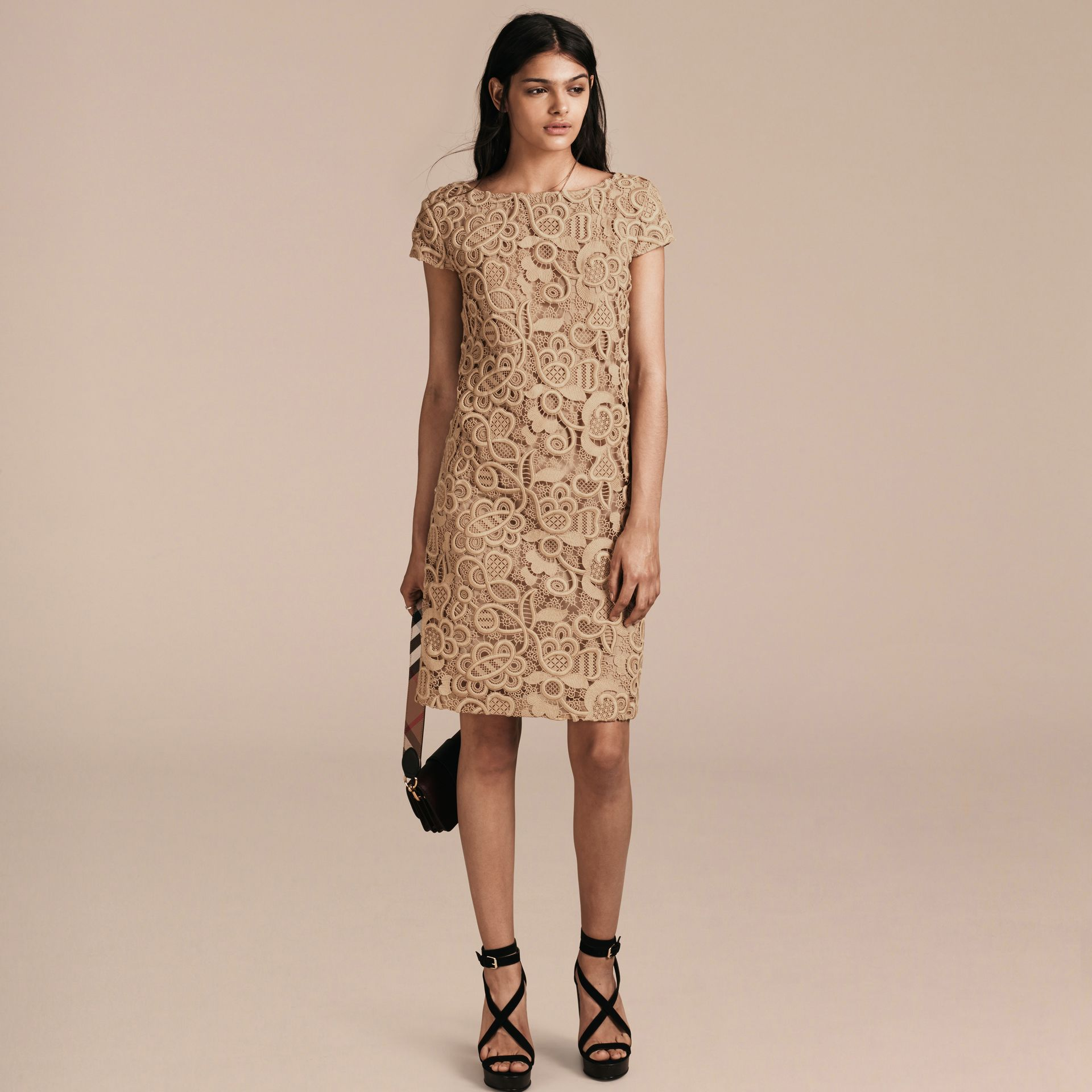Nude Online Exclusive Swiss Lace Shift Dress - gallery image 6