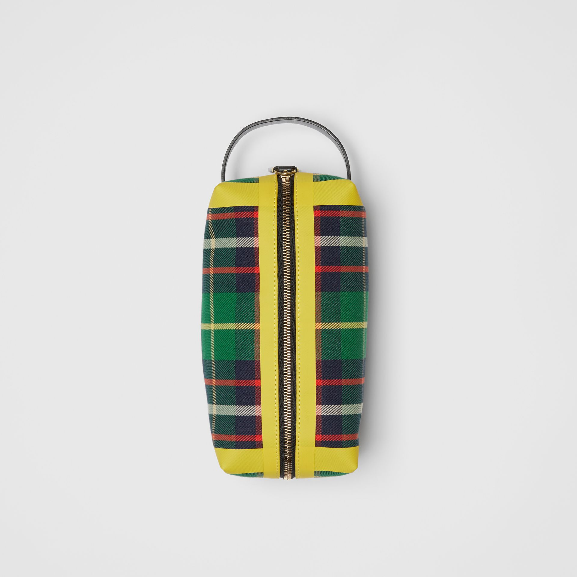 Tartan Cotton Pouch in Forest Green | Burberry - gallery image 0