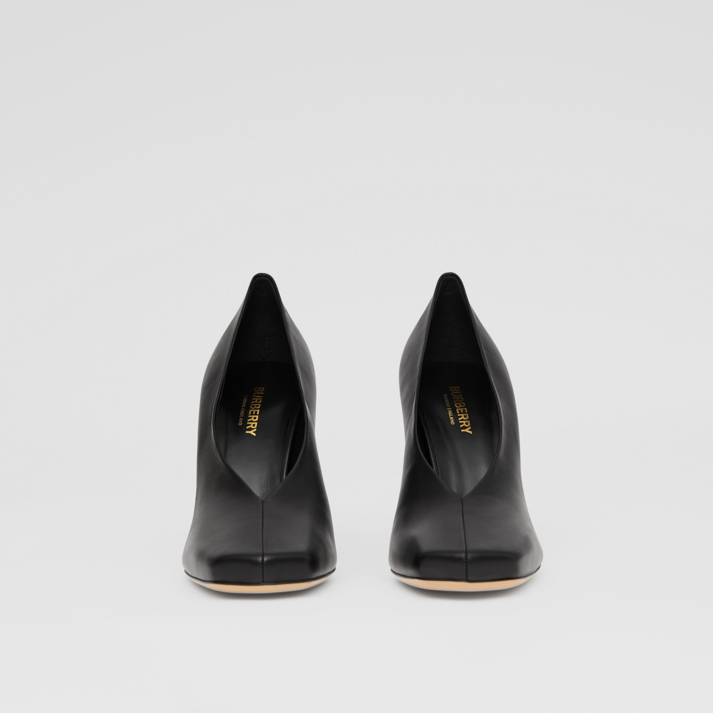 Lambskin Sculptural Pumps in Black - Women | Burberry - 4