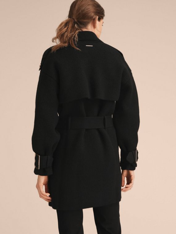Knitted Wool Cashmere Blend Trench Coat - cell image 2