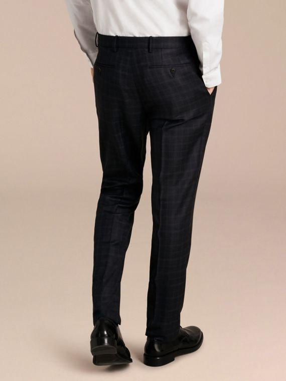 Ink Slim Fit Check Wool Tailored Trousers - cell image 2