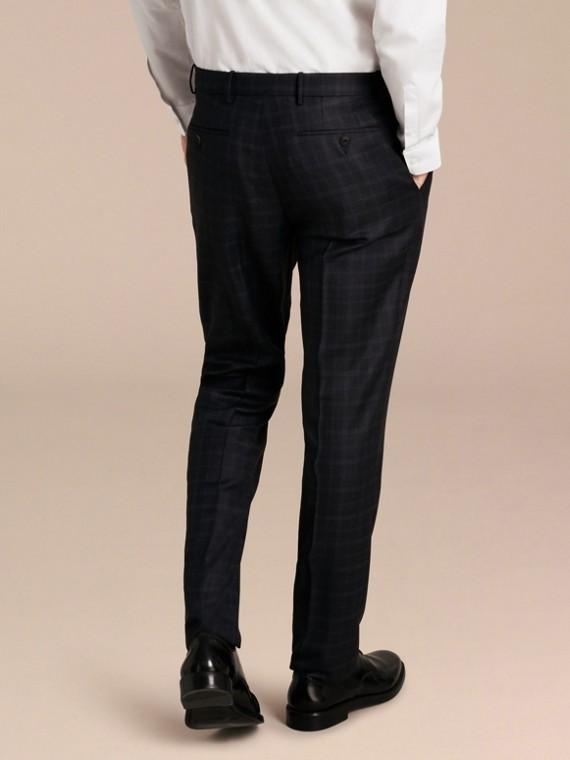 Encre Pantalon en laine de coupe slim à motif check - cell image 2