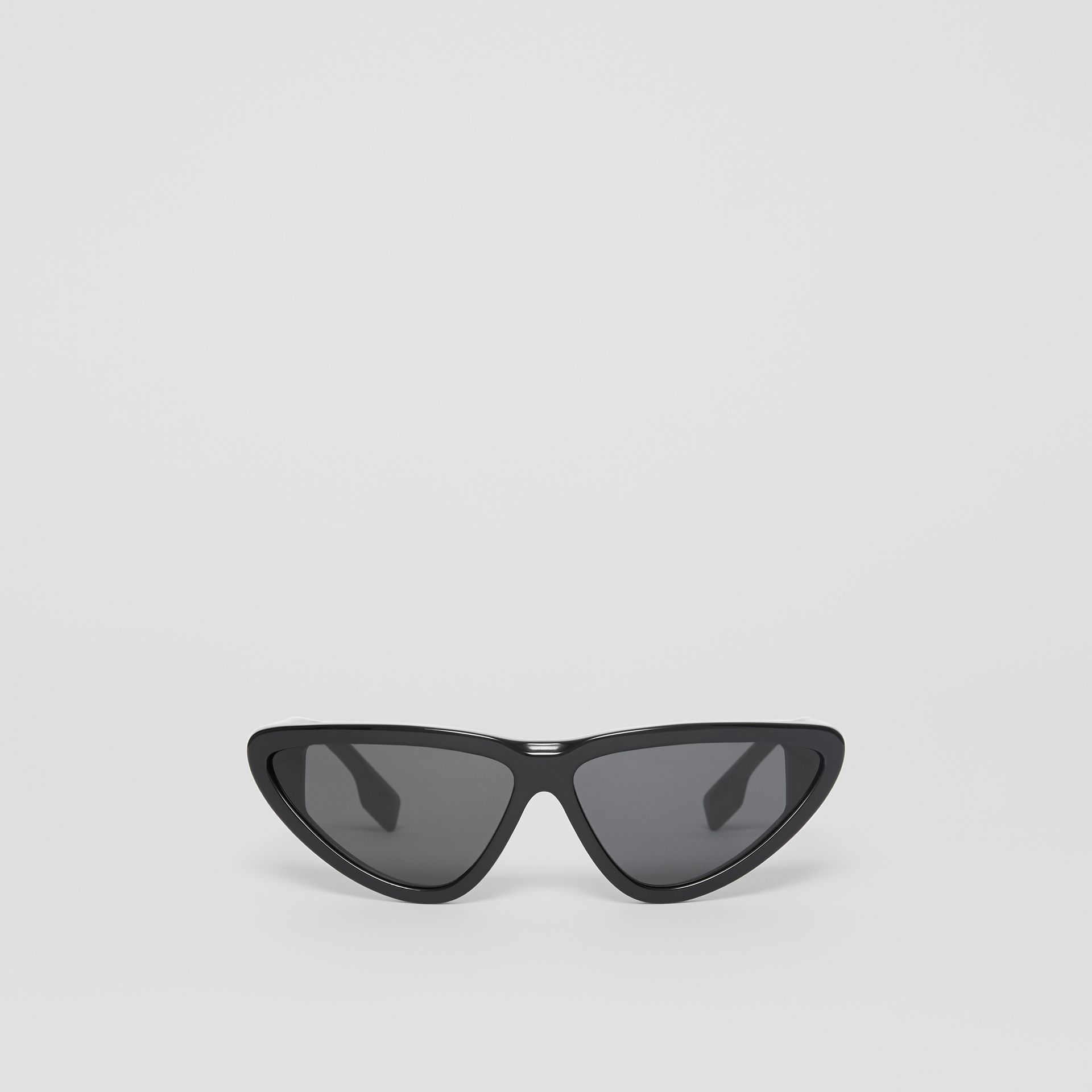 Triangular Frame Sunglasses in Black - Women | Burberry - gallery image 0