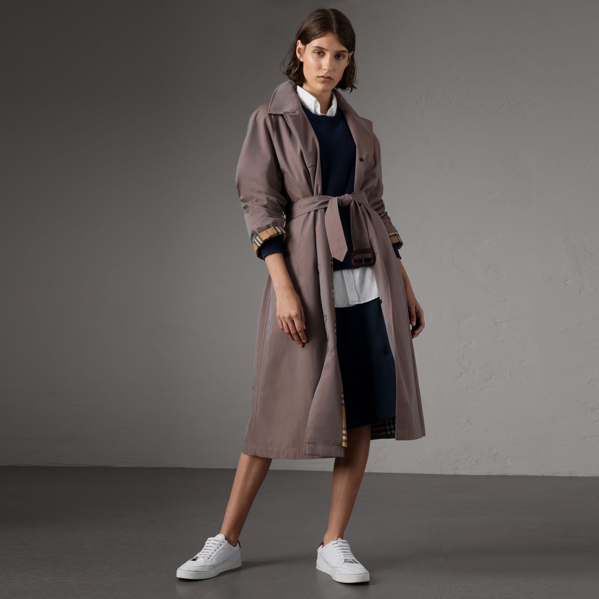 The Brighton Car Coat in Lilac Grey - Women | Burberry - gallery image 0