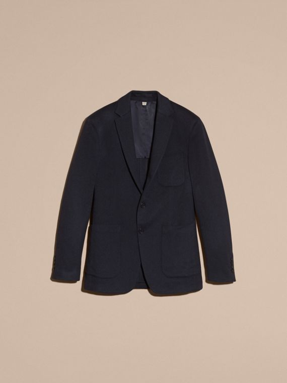 Navy melange Modern Fit Lightweight Cashmere Tailored Jacket Navy Melange - cell image 3