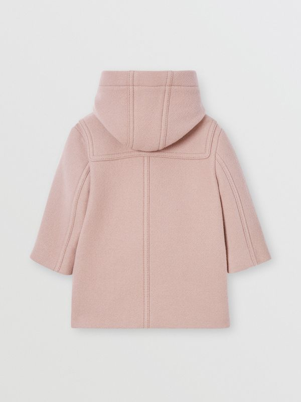Faux Leather Star Detail Wool Blend Duffle Coat in Lavender Pink - Children | Burberry - cell image 3