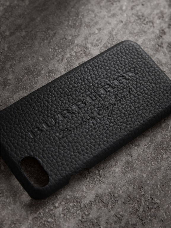 London Leather iPhone 7 Case in Black | Burberry - cell image 1