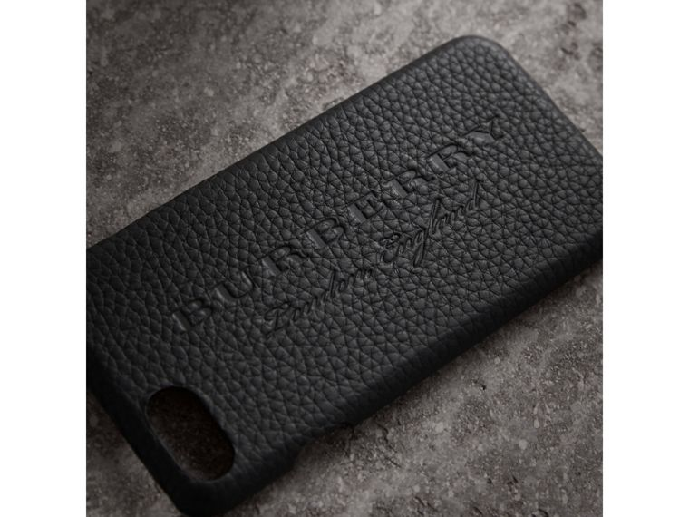 London Leather iPhone 7 Case in Black - Women | Burberry - cell image 1