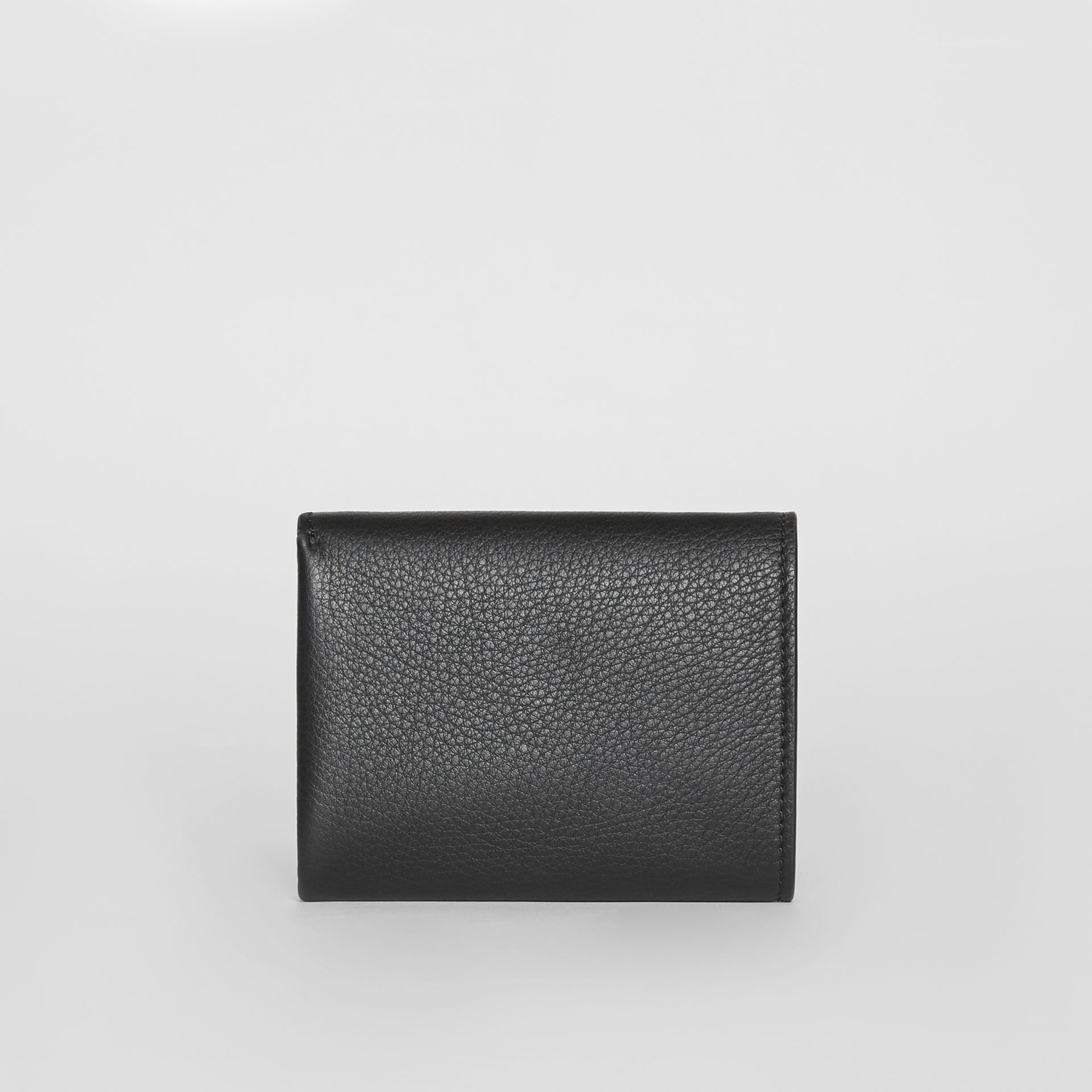 Small Leather Folding Wallet in Black - Women | Burberry - gallery image 5