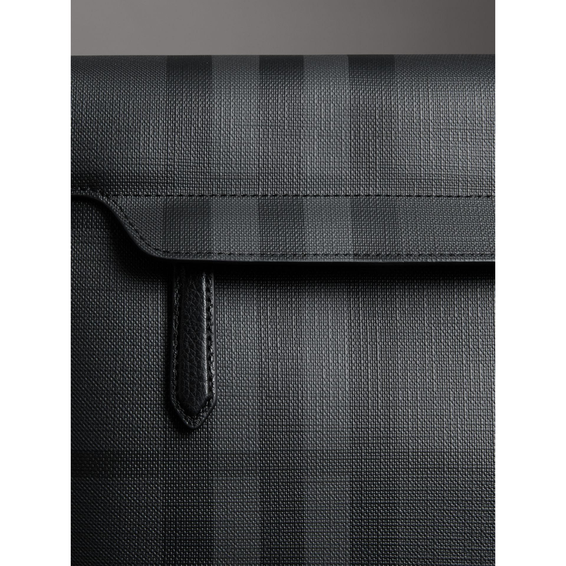 Large London Check Messenger Bag in Charcoal/black - Men | Burberry - gallery image 1