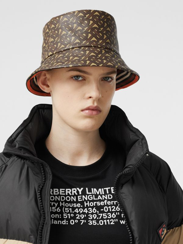 Monogram Print Bucket Hat in Bridle Brown | Burberry United Kingdom - cell image 2