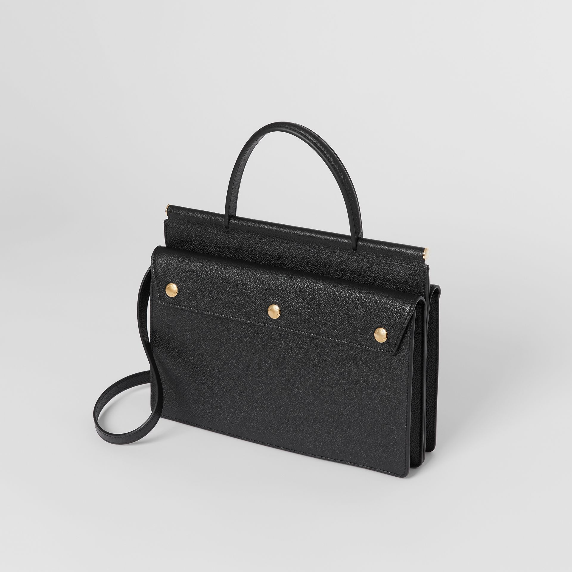 Small Leather Title Bag with Pocket Detail in Black - Women | Burberry United Kingdom - gallery image 3