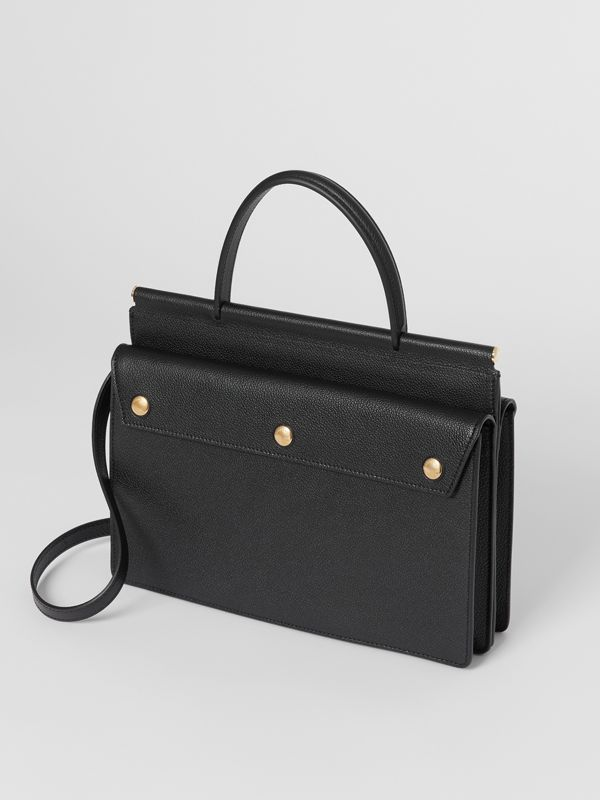 Small Leather Title Bag with Pocket Detail in Black - Women | Burberry United Kingdom - cell image 3