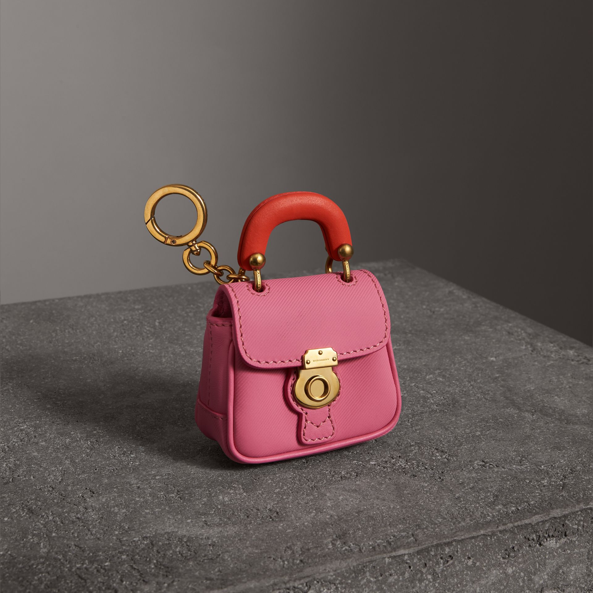 The DK88 Charm in Rose Pink/orange Red | Burberry United Kingdom - gallery image 0