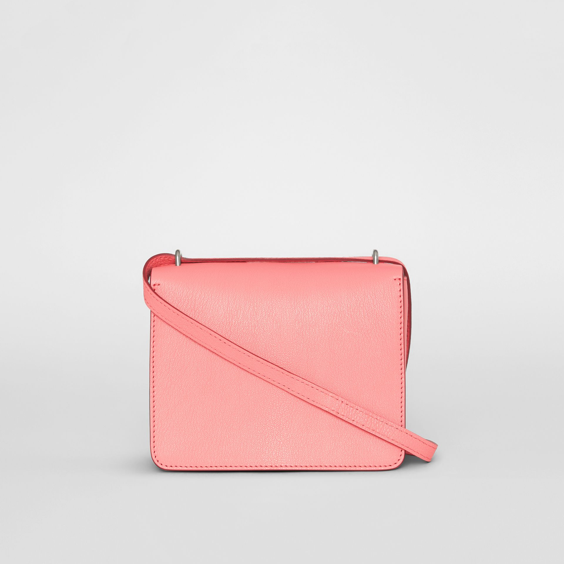 The Small Leather D-ring Bag in Bright Coral Pink - Women | Burberry - gallery image 7