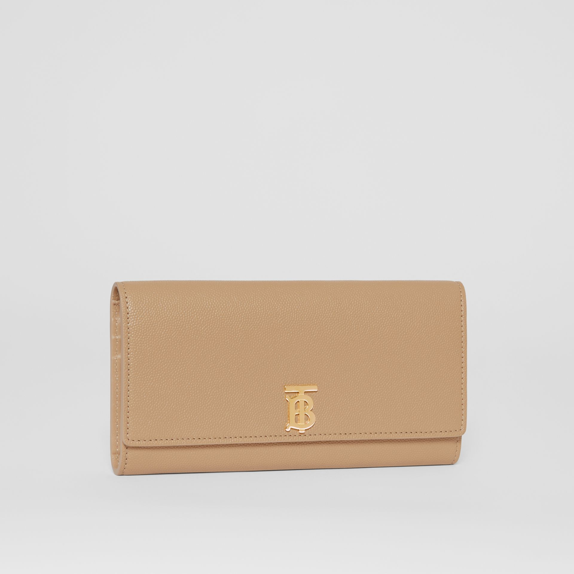 Monogram Motif Grainy Leather Continental Wallet in Archive Beige - Women | Burberry - gallery image 4