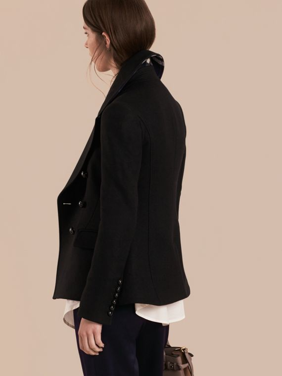 Tailored Wool Blend Jacket in Black - Women | Burberry - cell image 2