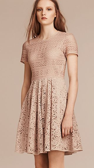 Floral and Mesh Lace Dress