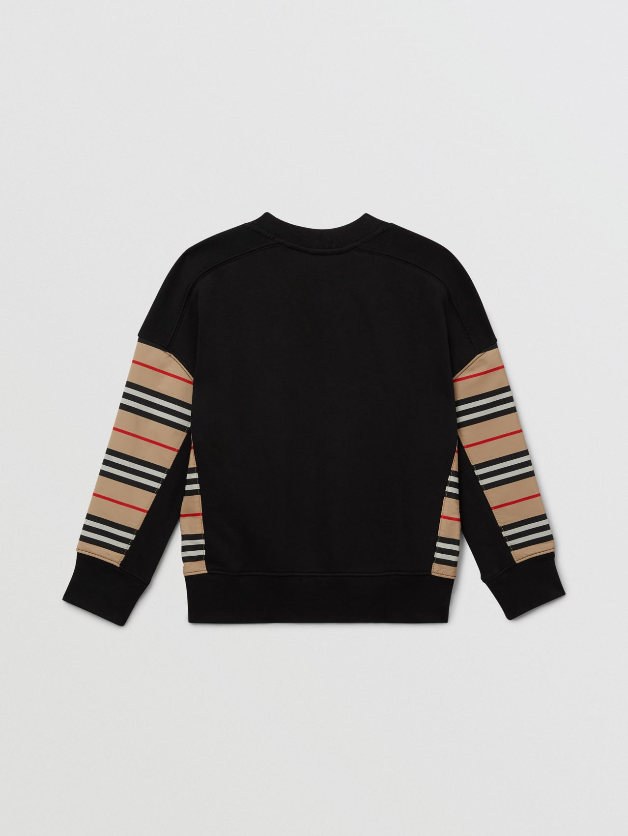 Icon Stripe Panel Cotton Sweatshirt