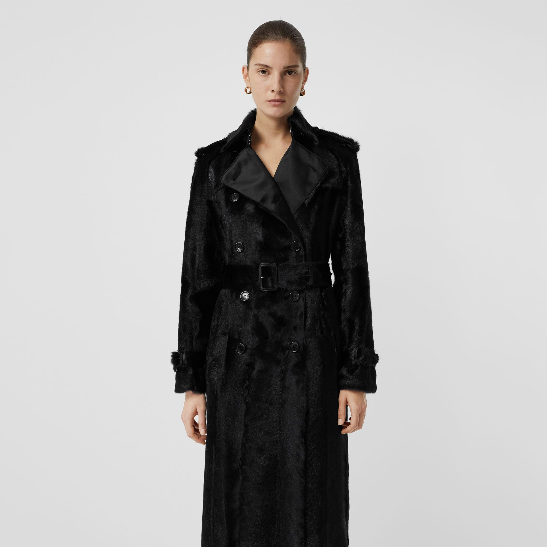 Goat Trench Coat in Black - Women | Burberry - gallery image 7