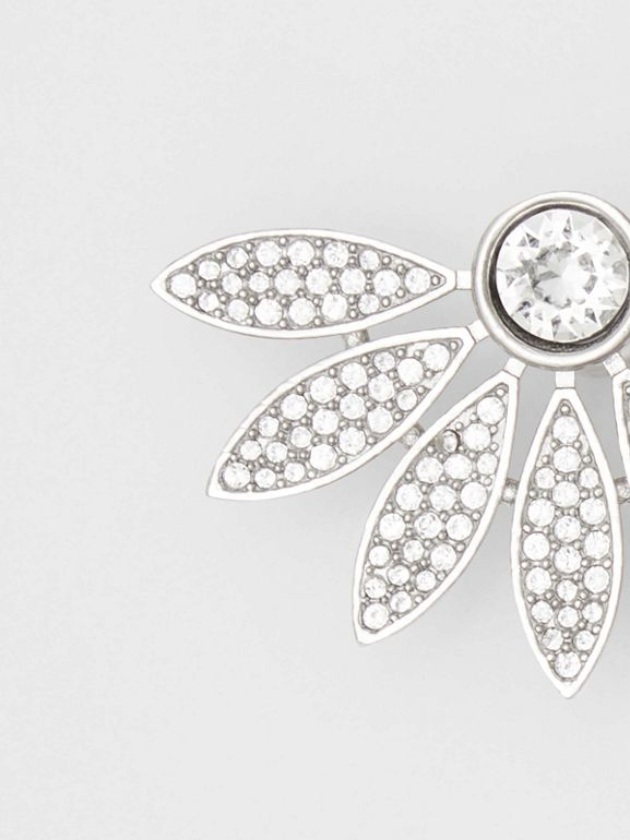 Crystal Half-daisy Stud Earrings - Women | Burberry - cell image 1