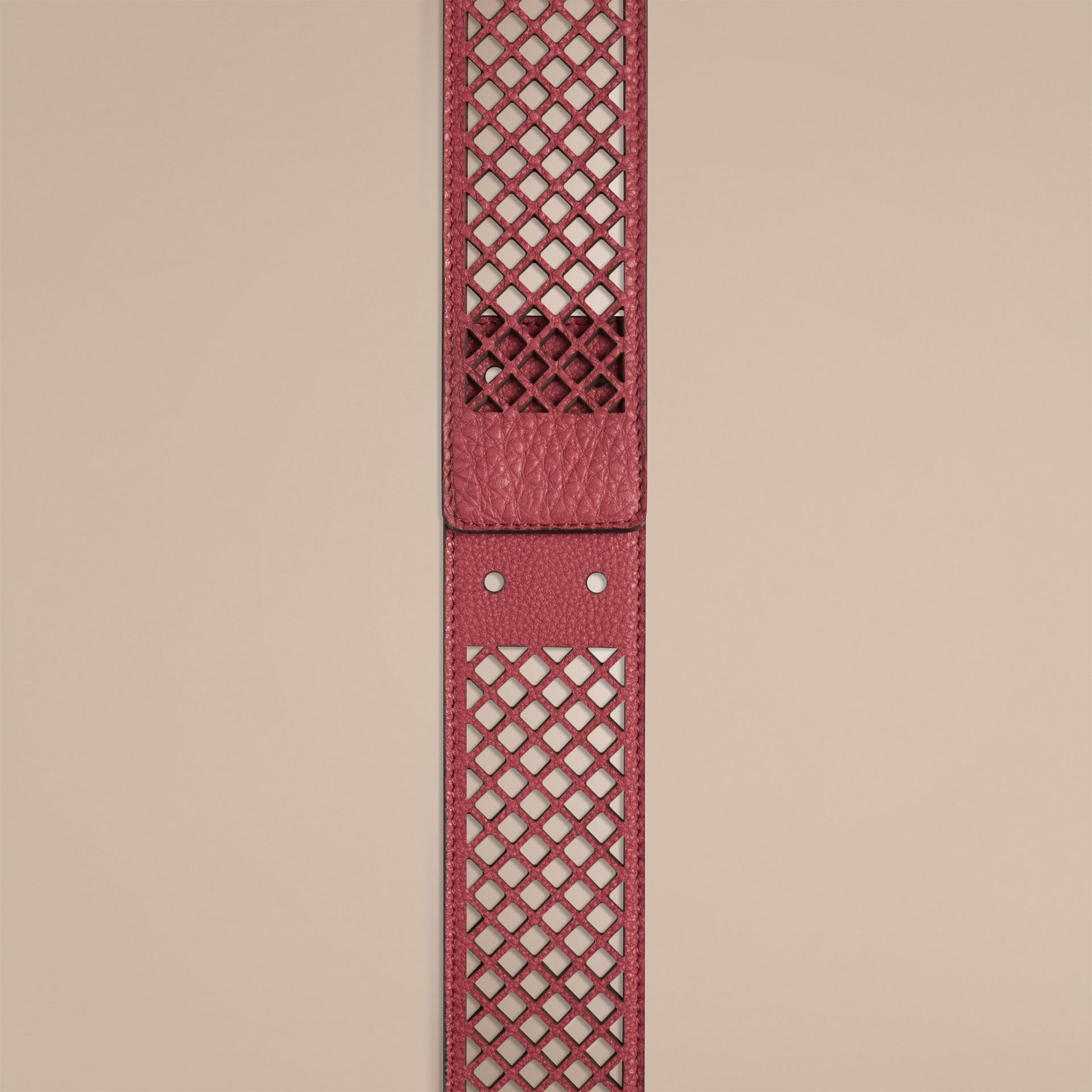 Peony rose Laser-cut Leather Belt - gallery image 2