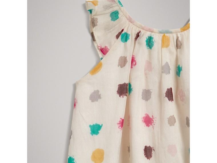 Расклешенное платье в горошек (Естественный Белый) | Burberry - cell image 4