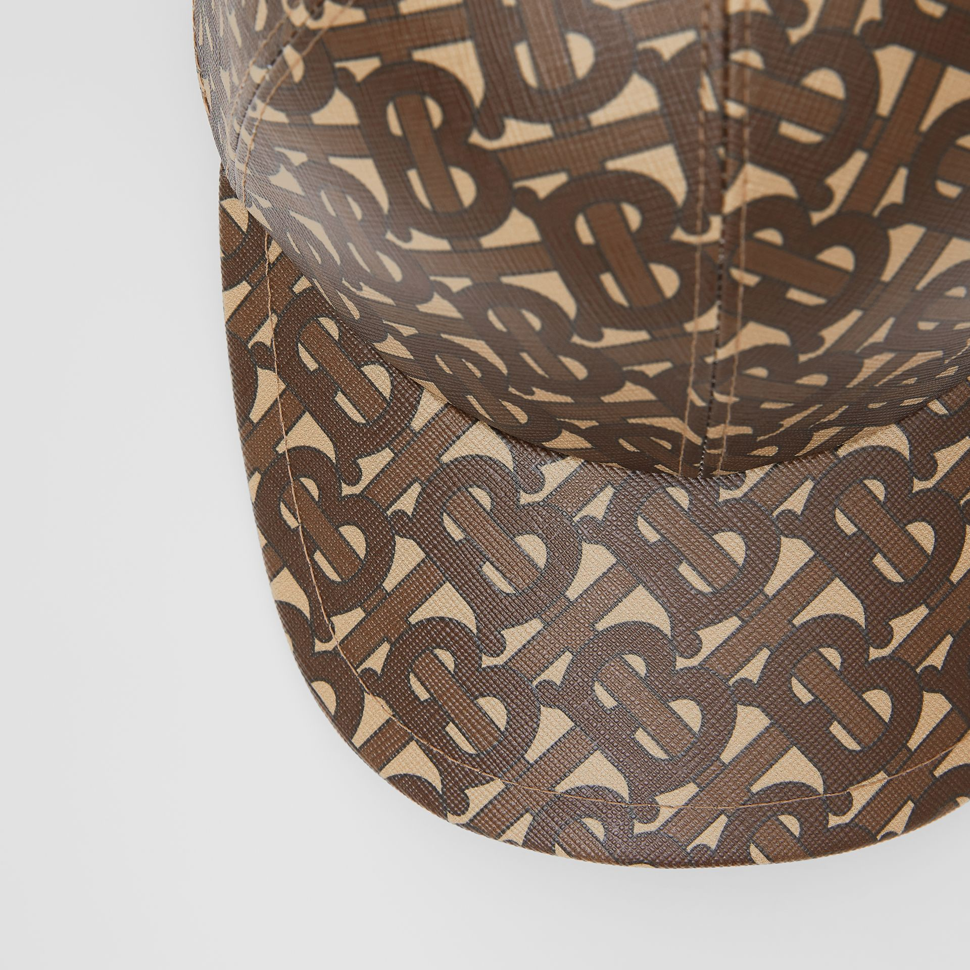 Monogram Print Baseball Cap in Bridle Brown | Burberry - gallery image 7