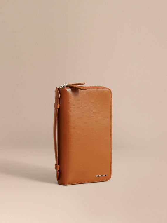 London Leather Travel Wallet Tan