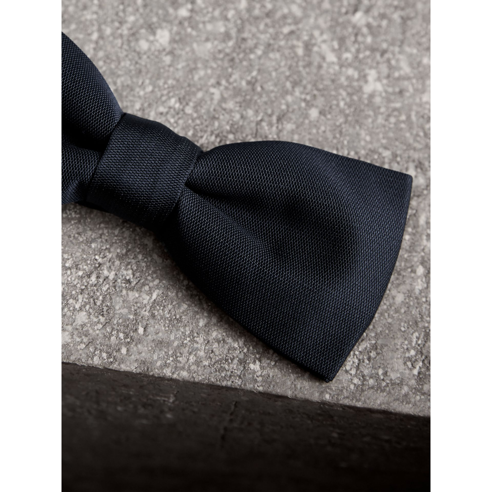 Silk Bow Tie in Midnight - Men | Burberry Canada - gallery image 1