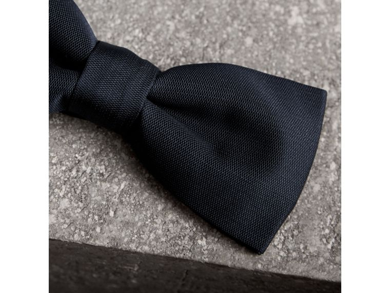 Silk Bow Tie in Midnight - Men | Burberry - cell image 1