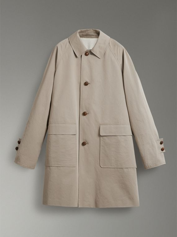Reissued Waxed Cotton Gabardine Car Coat in Khaki - Women | Burberry - cell image 3