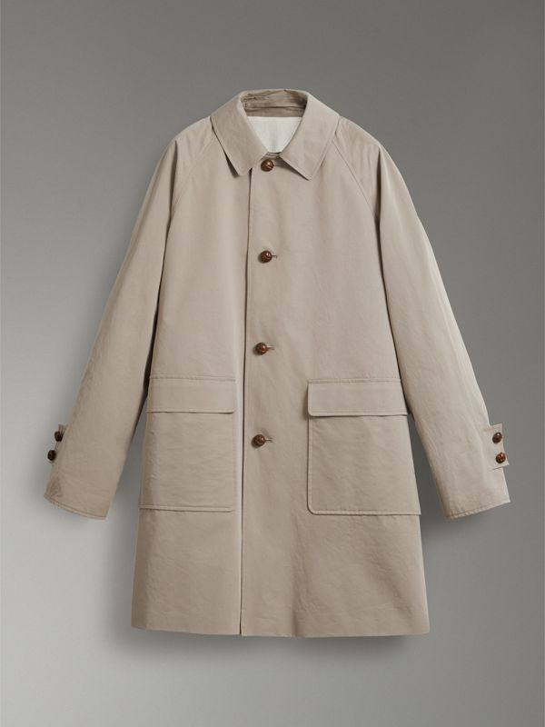 Reissued Waxed Cotton Gabardine Car Coat in Khaki - Women | Burberry United Kingdom - cell image 3