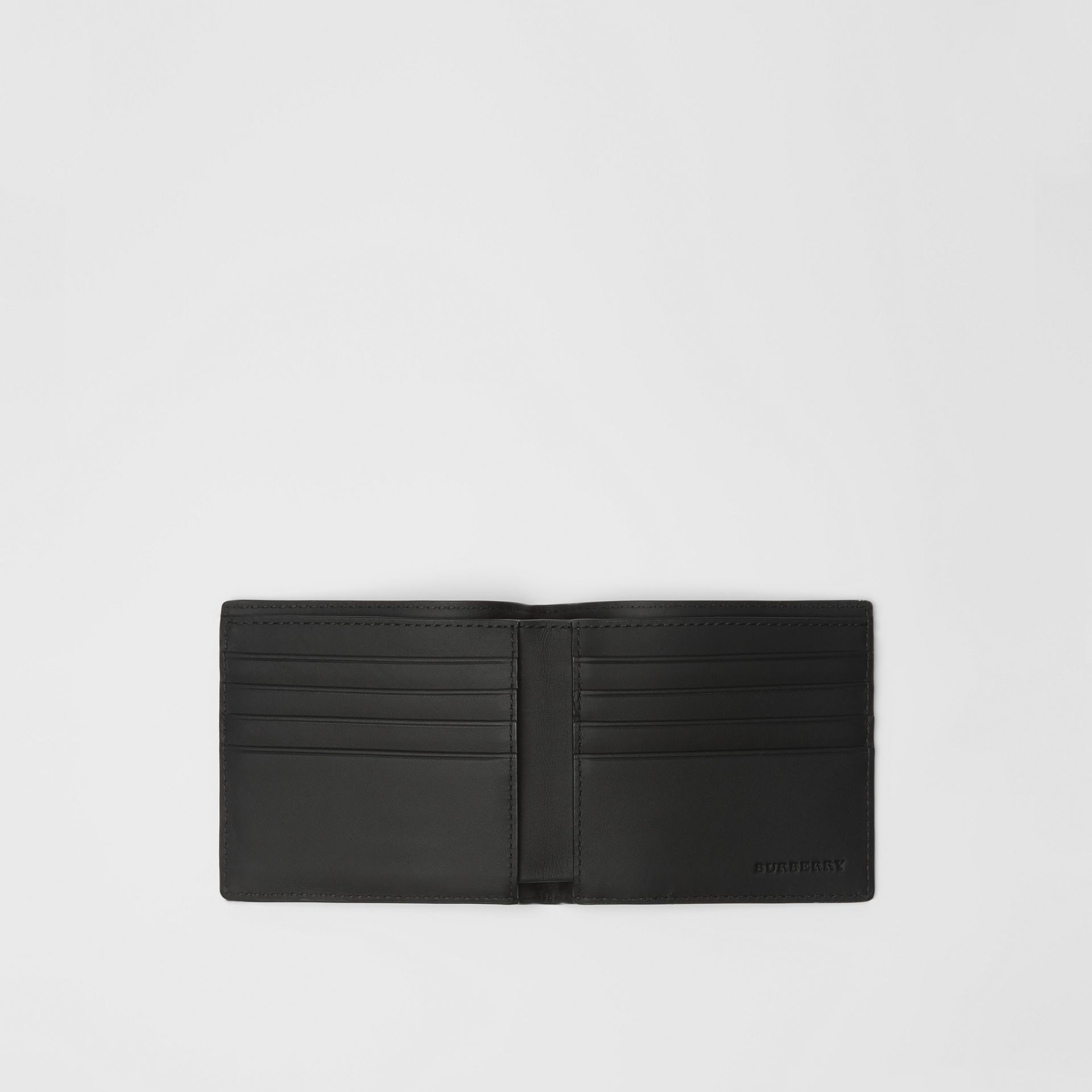 EKD London Check International Bifold Wallet in Charcoal/black - Men | Burberry - gallery image 2