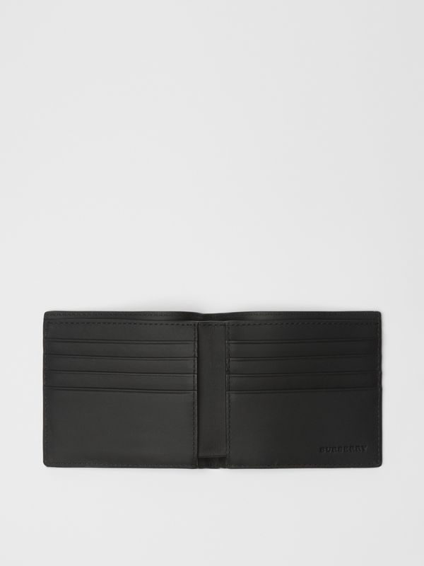 EKD London Check International Bifold Wallet in Charcoal/black - Men | Burberry Canada - cell image 2