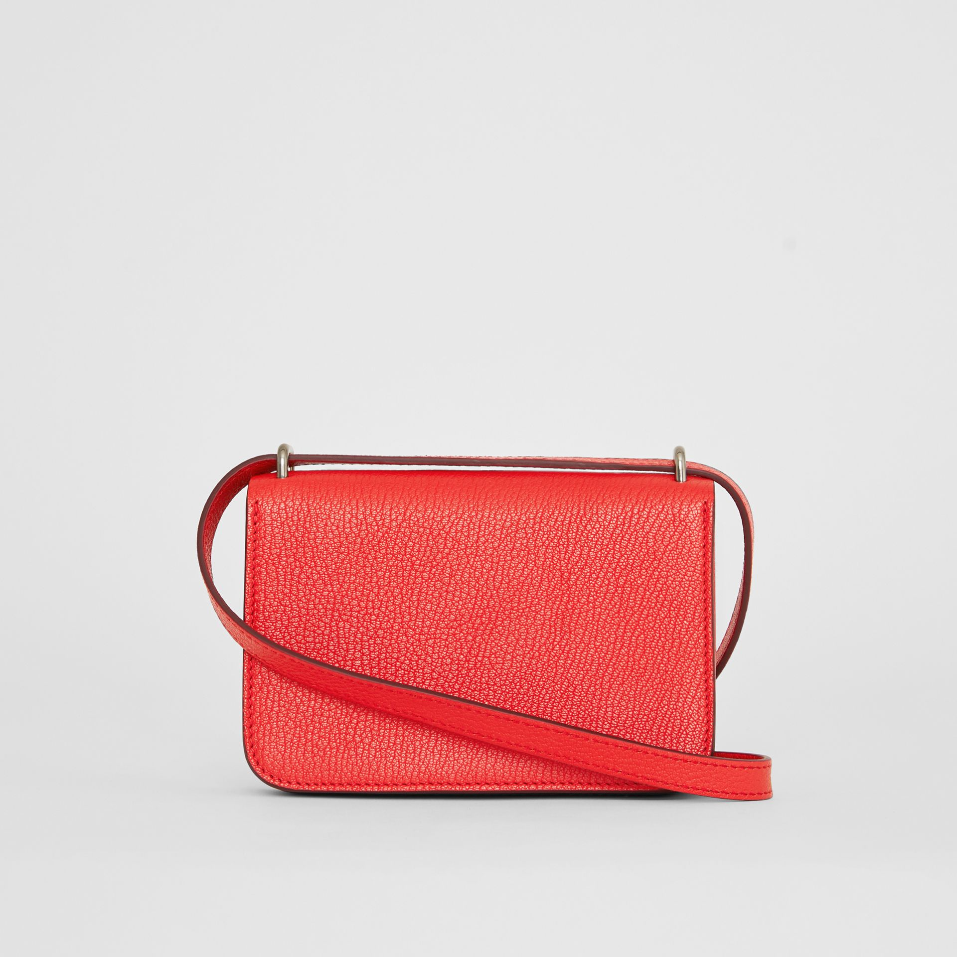 The Mini Leather D-ring Bag in Bright Red - Women | Burberry - gallery image 7
