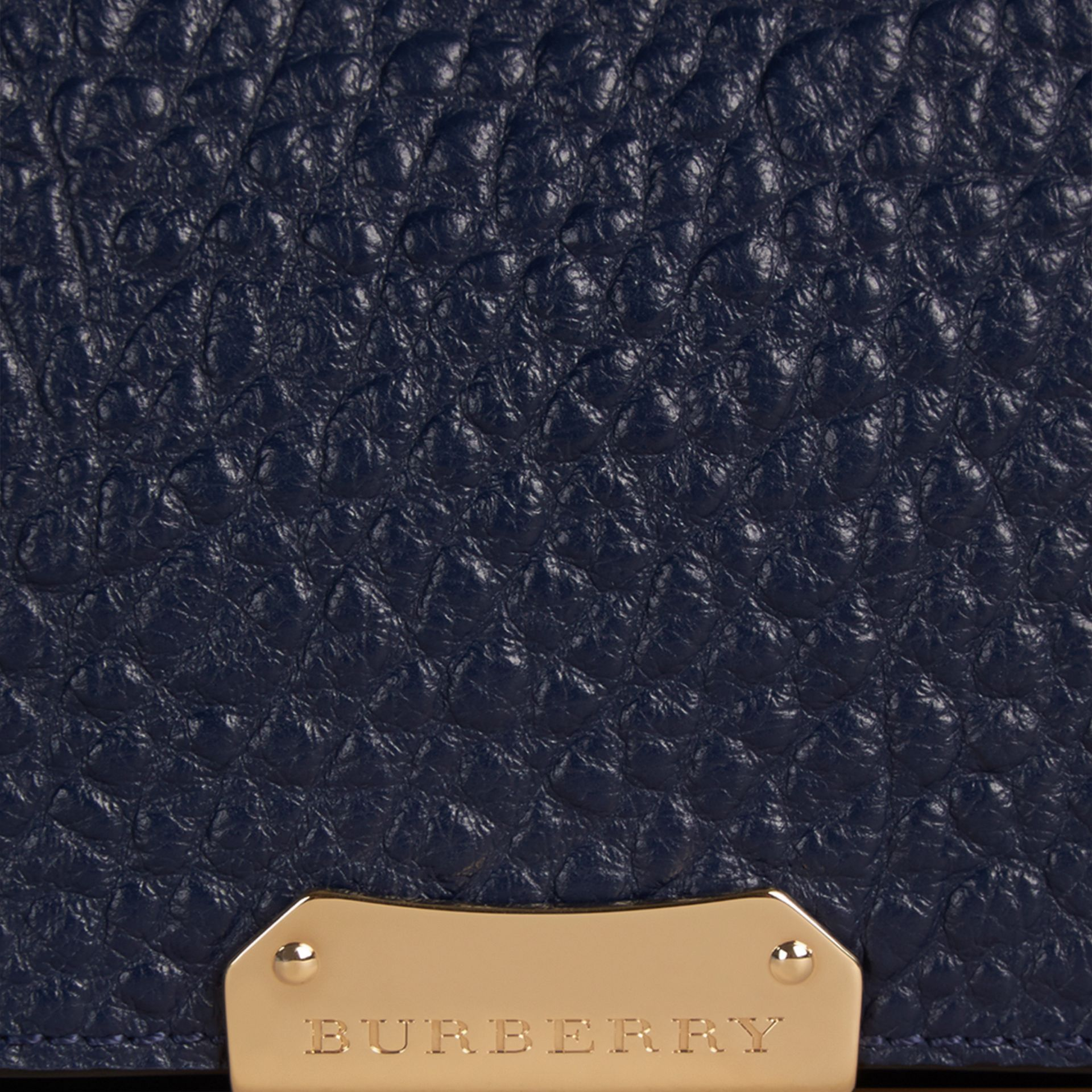 Blue carbon Medium Signature Grain Leather Clutch Bag Blue Carbon - gallery image 2