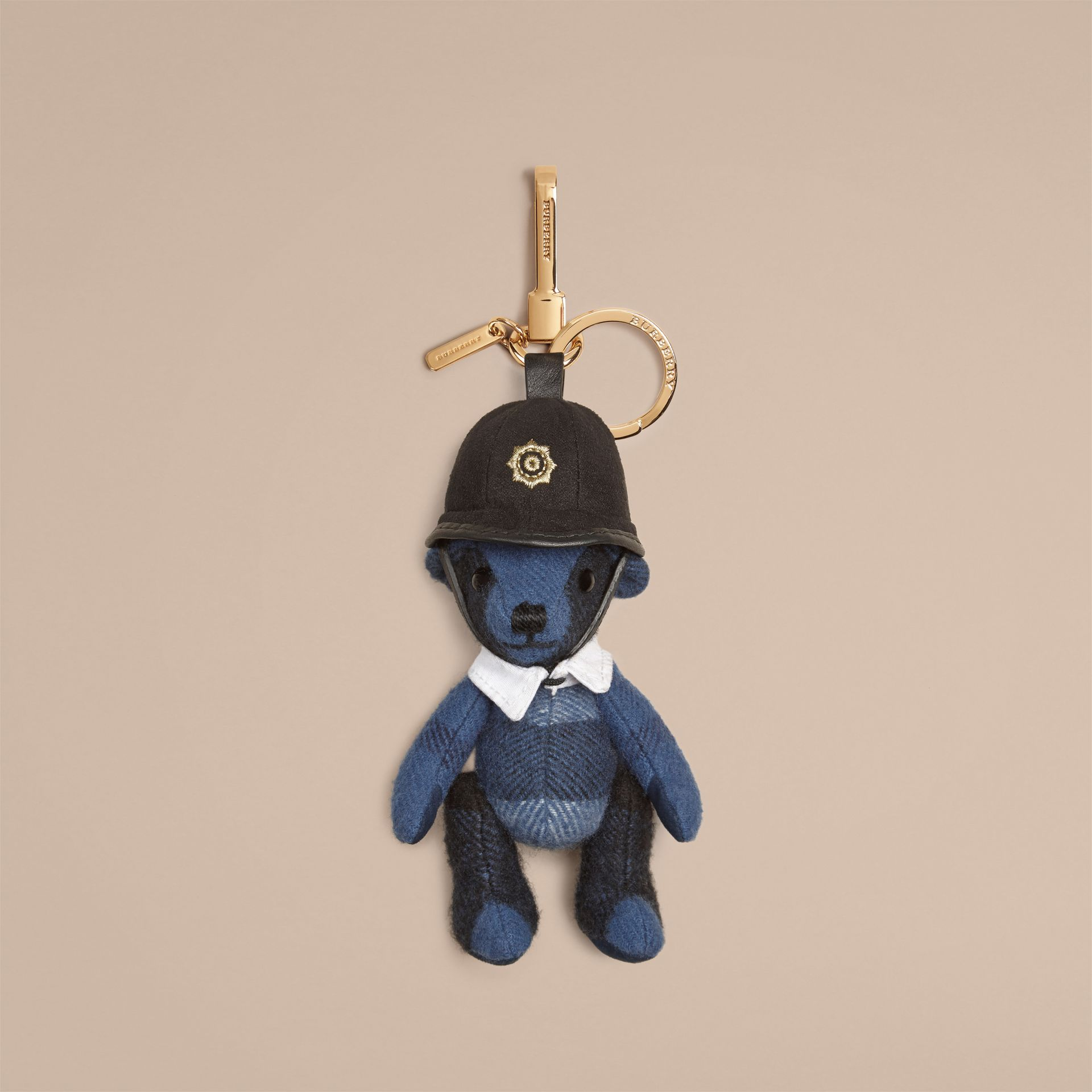 The Bobby Thomas Bear Charm in Cadet Blue | Burberry - gallery image 1